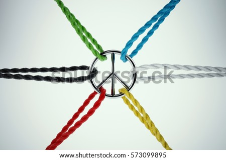 3D Rendering of united for peace #573099895