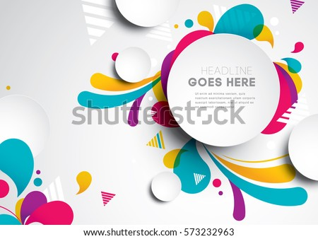 Vector of modern abstract background Royalty-Free Stock Photo #573232963