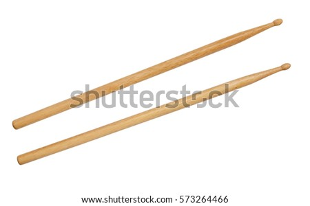 Drum stick isolated on white background Royalty-Free Stock Photo #573264466