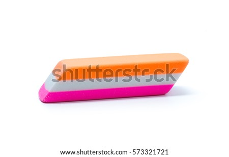 Eraser isolated on a white background #573321721