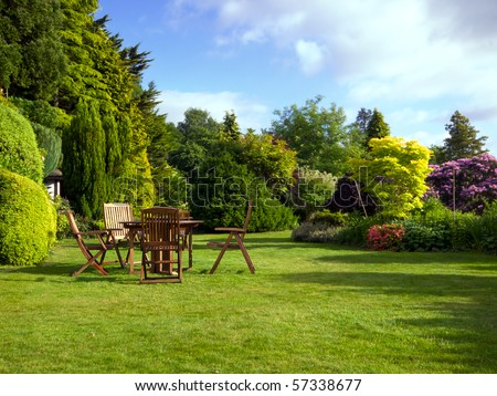English garden in summer #57338677