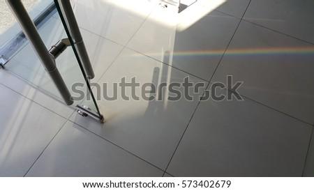 Light and shadow glass door #573402679