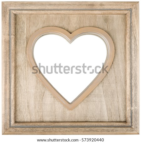 heart shape frame. isolated on white background with clipping path.
