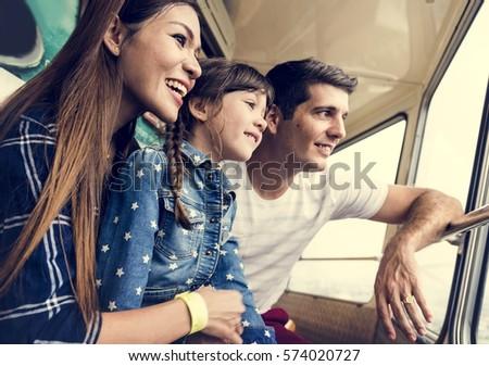 Family Holiday Vacation Amusement Park Ferris Wheel #574020727