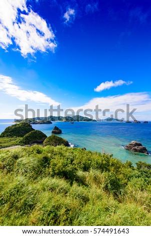 Okinawa, Japan, kerama Islands, Zamami Island,  kaminohama Observatory #574491643
