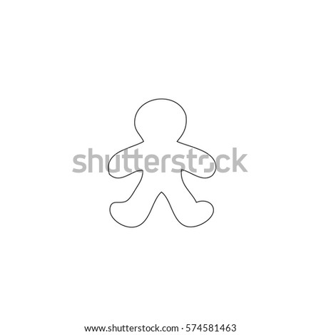 An Illustrated Icon Isolated on a Background -  Gingerbread Man #574581463