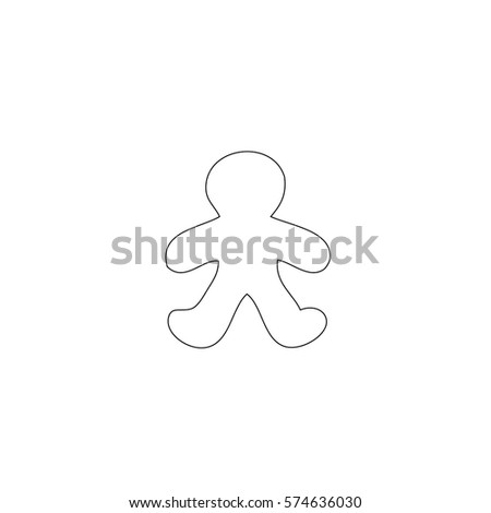 An Illustrated Icon Isolated on a Background -  Gingerbread Man #574636030