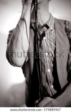 Black and White Live Concert Singer #574889467