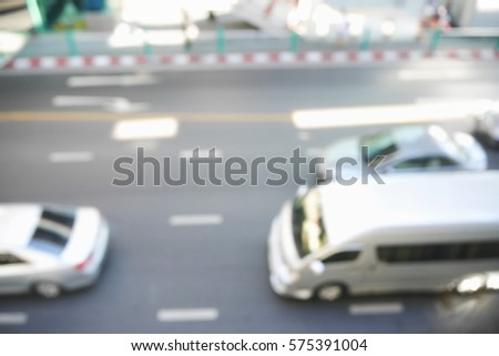 Picture blurred  for background abstract and can be illustration to article of traffic #575391004