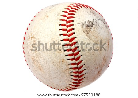 Vintage baseball closeup #57539188
