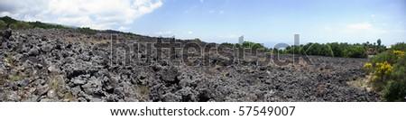Mount Etna, volcanic landscape #57549007