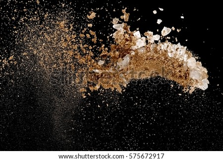 Crushed ice and river sand explosion #575672917