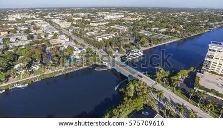 Aerial, Bird Eye of Delray Beach, Florida USA #575709616