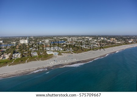 Aerial, Bird Eye of Delray Beach, Florida USA #575709667