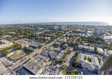 Aerial, Bird Eye of Delray Beach, Florida USA #575709721
