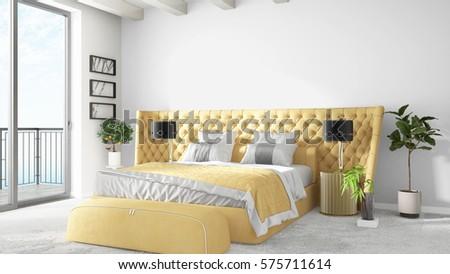 Modern bright interior . 3D rendering #575711614