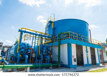 Water treatment process and Water treatment plants of the Waterworks in Thailand. #575746372