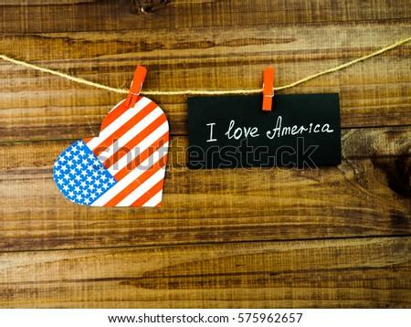 I Love America flag #575962657
