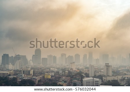 City air pollution Royalty-Free Stock Photo #576032044