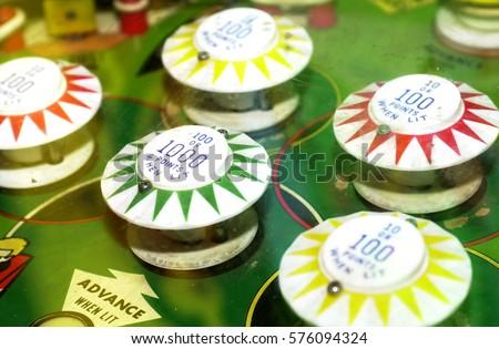 a vintage pinball machine Royalty-Free Stock Photo #576094324