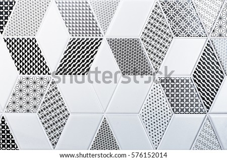 texture of the classic tile, abstract pattern #576152014