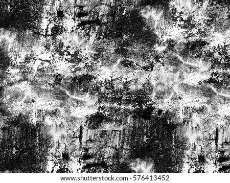 Black and white grunge texture #576413452