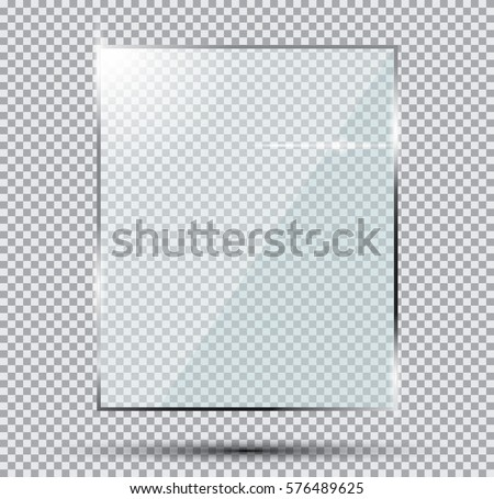 Glass Plate Isolated On Transparent Background. #576489625
