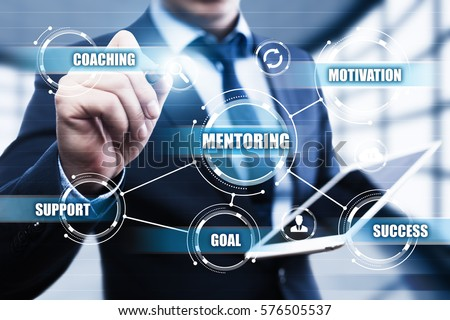 Mentoring Business Motivation Coaching  Success Career concept Royalty-Free Stock Photo #576505537