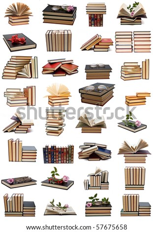 Books collection isolated on a white background. #57675658