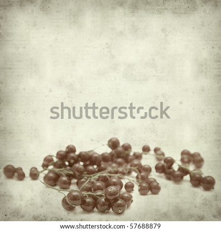 textured old paper background with redcurrant #57688879