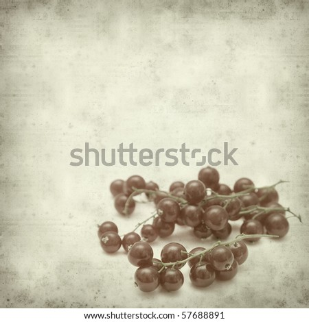 textured old paper background with redcurrant #57688891