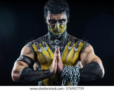 Professional make-up scorpion Royalty-Free Stock Photo #576907759