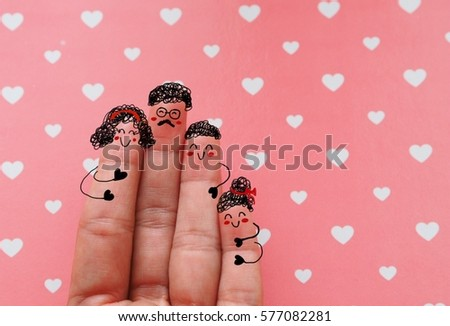 Finger lover in concept sweet time