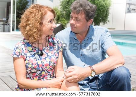 Senior couple benefits from retirement #577317802