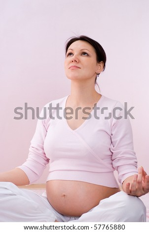 pregnant woman relaxation on a ping #57765880