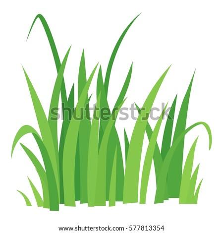 Grass leaves vector icon. Cartoon illustration of grass leaves vector icon for any web