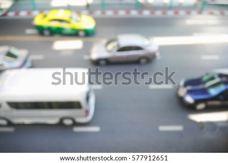 Picture blurred  for background abstract and can be illustration to article of traffic #577912651