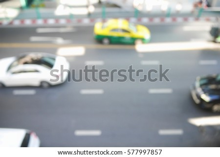 Picture blurred  for background abstract and can be illustration to article of traffic #577997857
