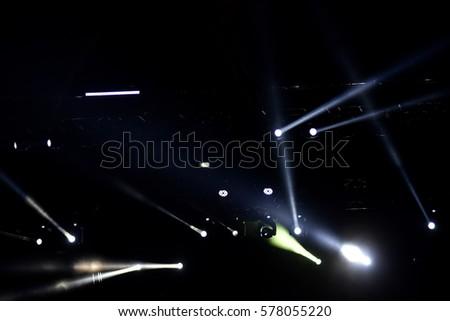 Stage lights at a live concert #578055220