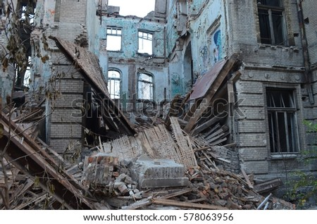 The ruins of the old hospital #578063956