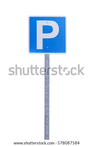 Parking sign isolated on white background.