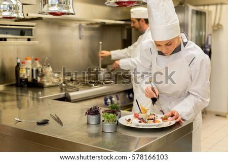 chef preparing starter #578166103