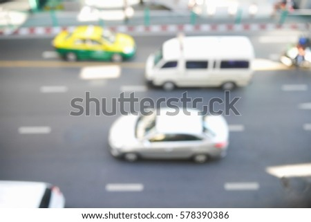 Picture blurred  for background abstract and can be illustration to article of traffic #578390386