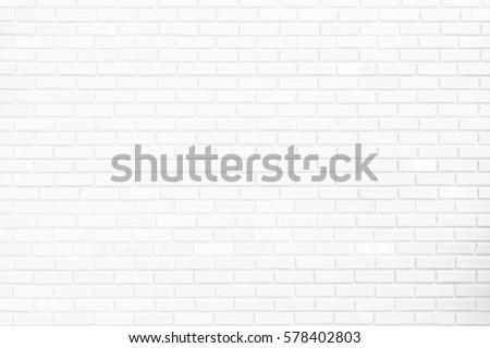 Construction background or backdrop brick wall of white abstract style. #578402803