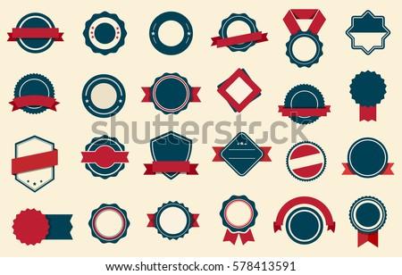 Vector Badge, Labels and Ribbons Royalty-Free Stock Photo #578413591