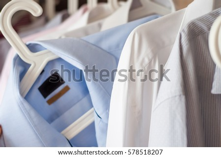 ironed shirts in the closet #578518207