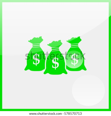 Money icon with three bags. #578570713
