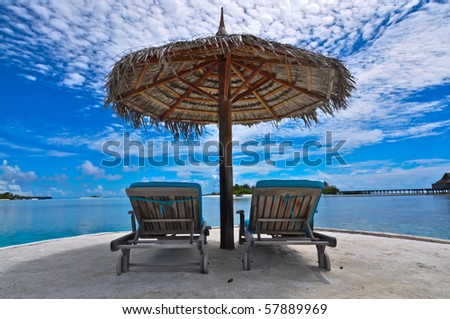 Maldives beach chair #57889969