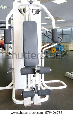 Interior of a fitness hall #579406783