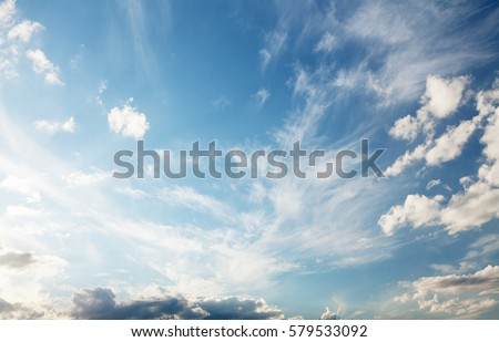 Blue sky and clouds with copy space #579533092